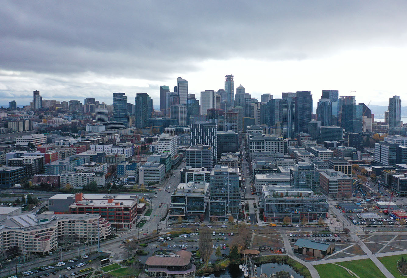 Вид на центр Сиэтла