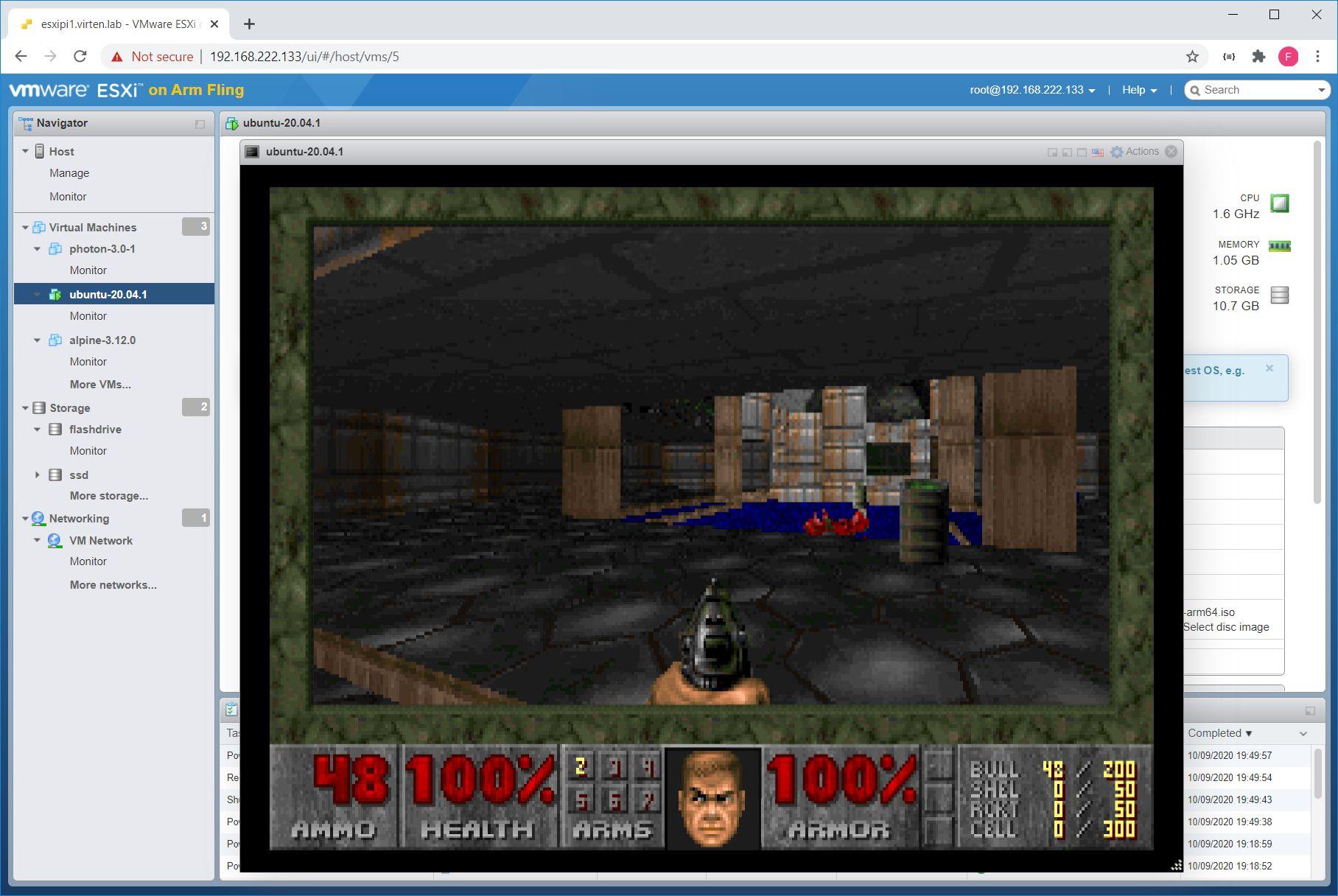 Играем в Doom в среде VMware ESXi на Raspberry Pi - 6