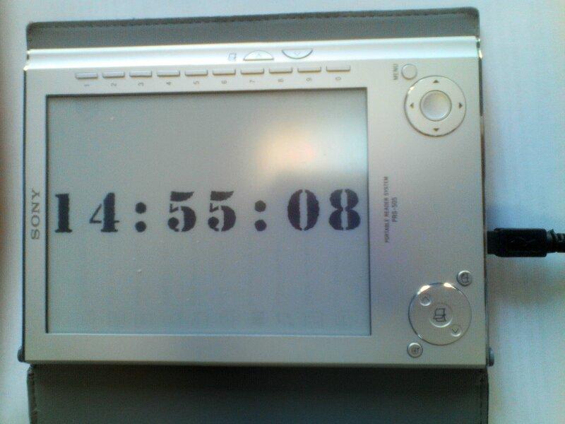 Делаем часы из электронной книжки PRS-505 - 1