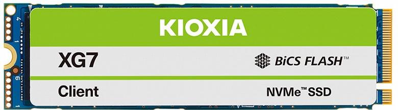 Твердотельные накопители Kioxia XG7/XG7-P с интерфейсом PCIe 4.0 предназначены для ноутбуков, настольных ПК и рабочих станций