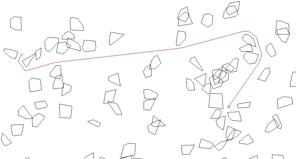 Быстрый поиск касательных и пересечений у выпуклых многоугольников - 1