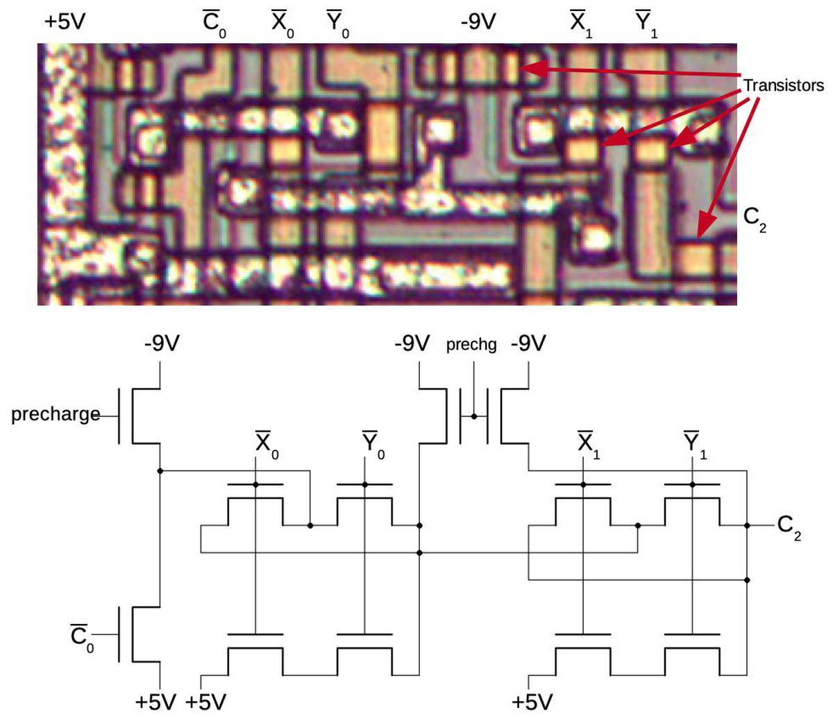 Инженерный анализ схемы ускоренного переноса процессора Intel 8008 - 6