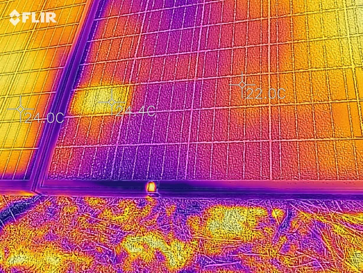 так этот же участок видит тепловизор