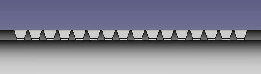 Вид световодов в разрезе