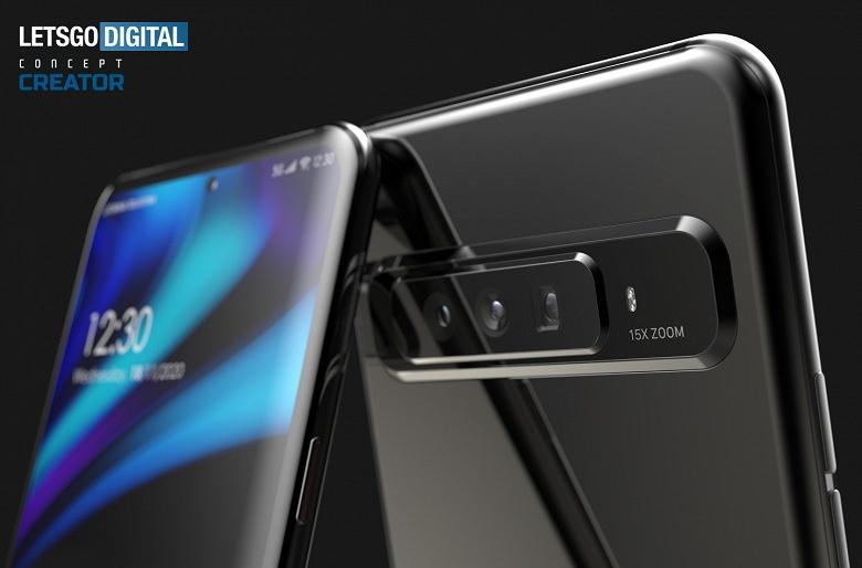 Смартфон с 15-кратным гибридным зумом. Смотрим на дизайнерский концепт по мотивам патентов Oppo