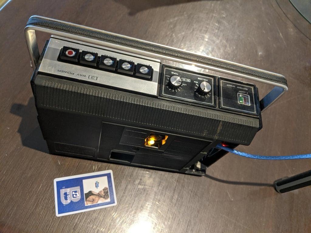 Олдскульный кассетный магнитофон и новые «кассеты» - 16