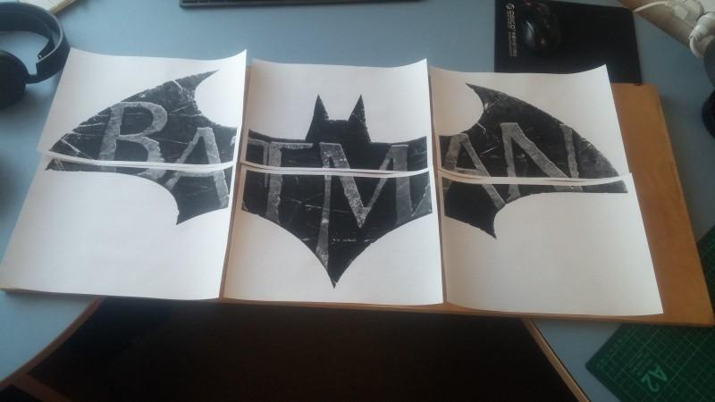 Прикладываем к фанере распечатанный рисунок