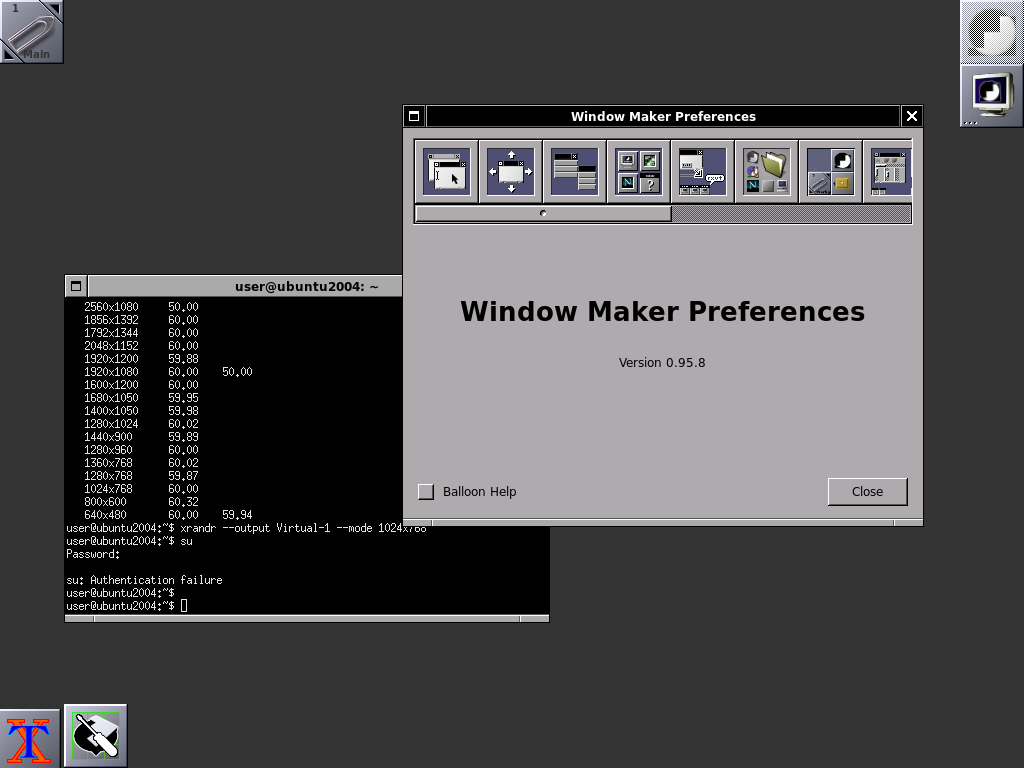 Оконный менеджер Window Maker