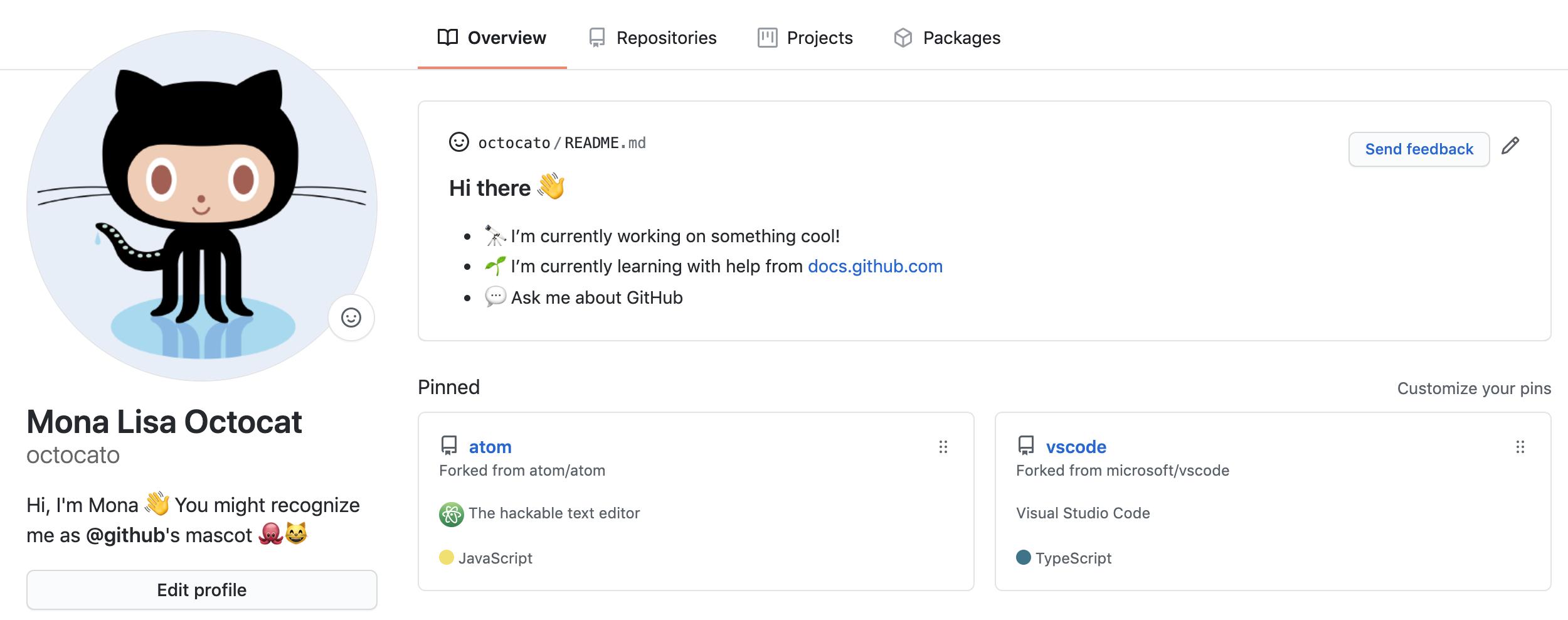 Кастомизация профиля GitHub: Readme - 1