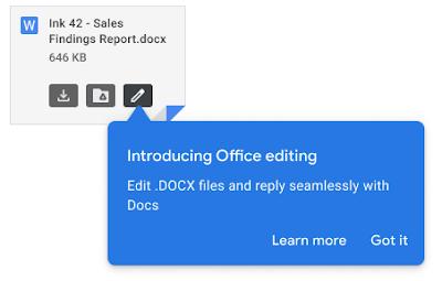 Google разрешила редактировать документы Microsoft Office напрямую в Gmail