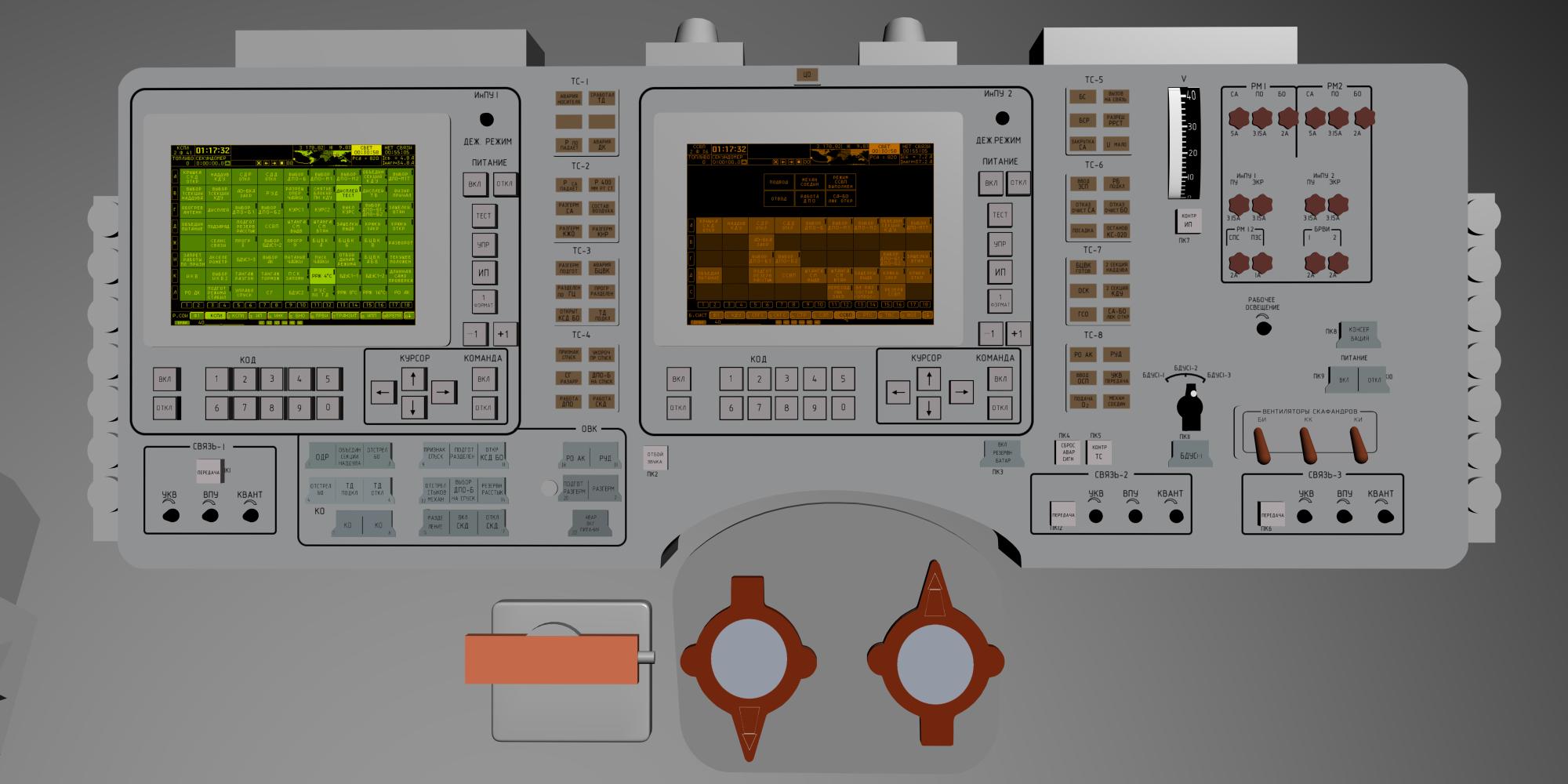 Разработка симулятора космического корабля Союз ТМА - 1