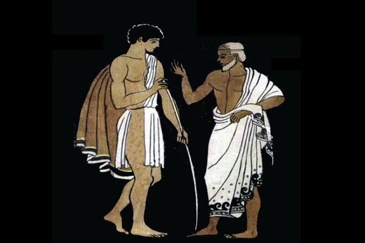 Сократ был учителем Платона. Тот был наставником Аристотеля. А Аристотель — ментором Александра Македонского