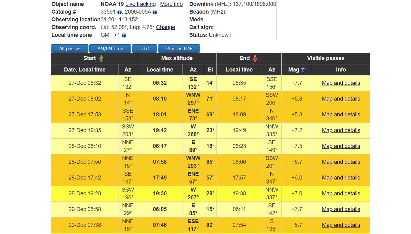Декодируем сигнал метеоспутника NOAA в 50 строчек кода - 2