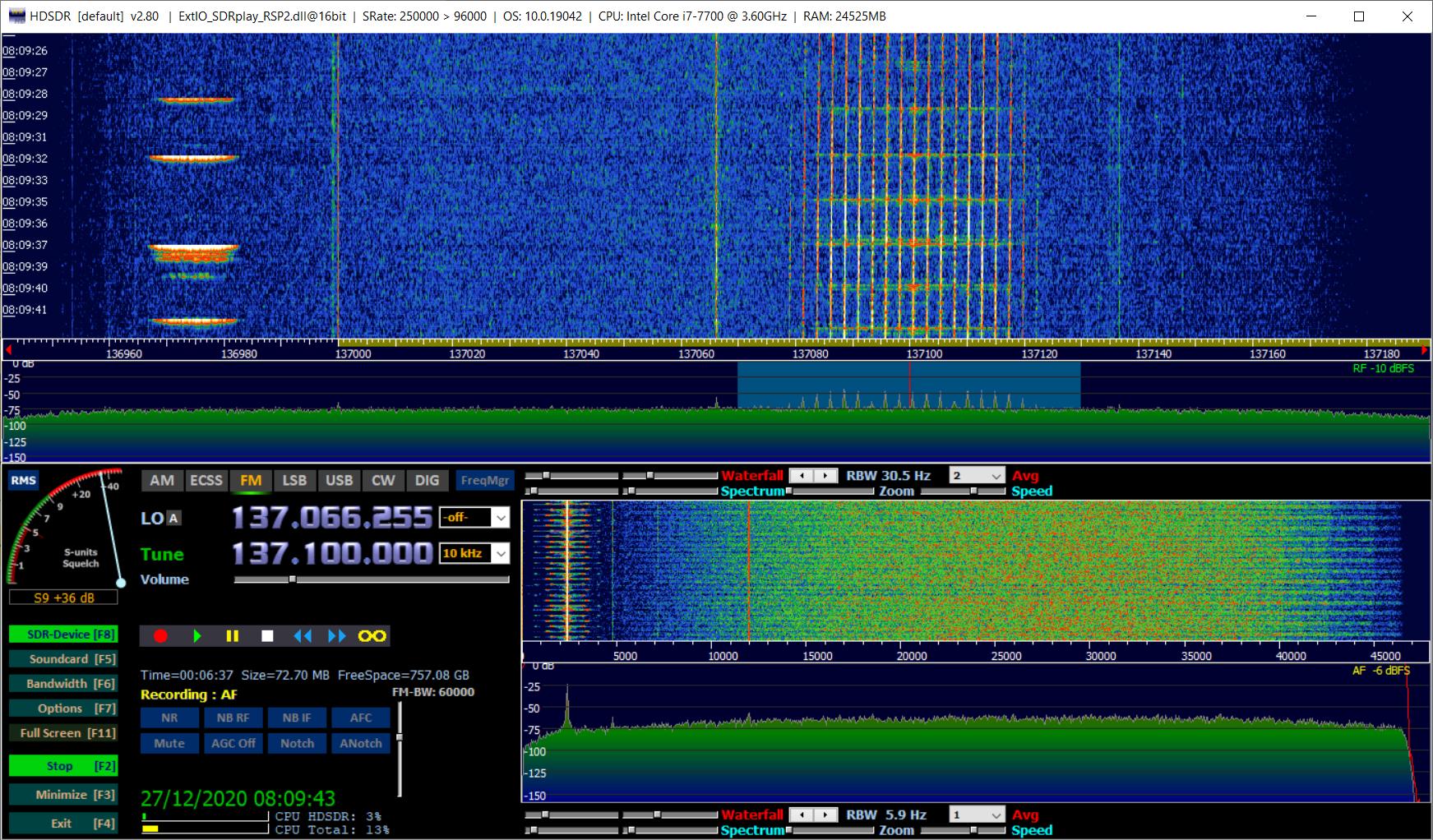 Декодируем сигнал метеоспутника NOAA в 50 строчек кода - 4