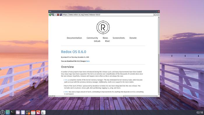 Операционная система Redox 0.6, написанная на Rust: что нового в выпуске? - 1