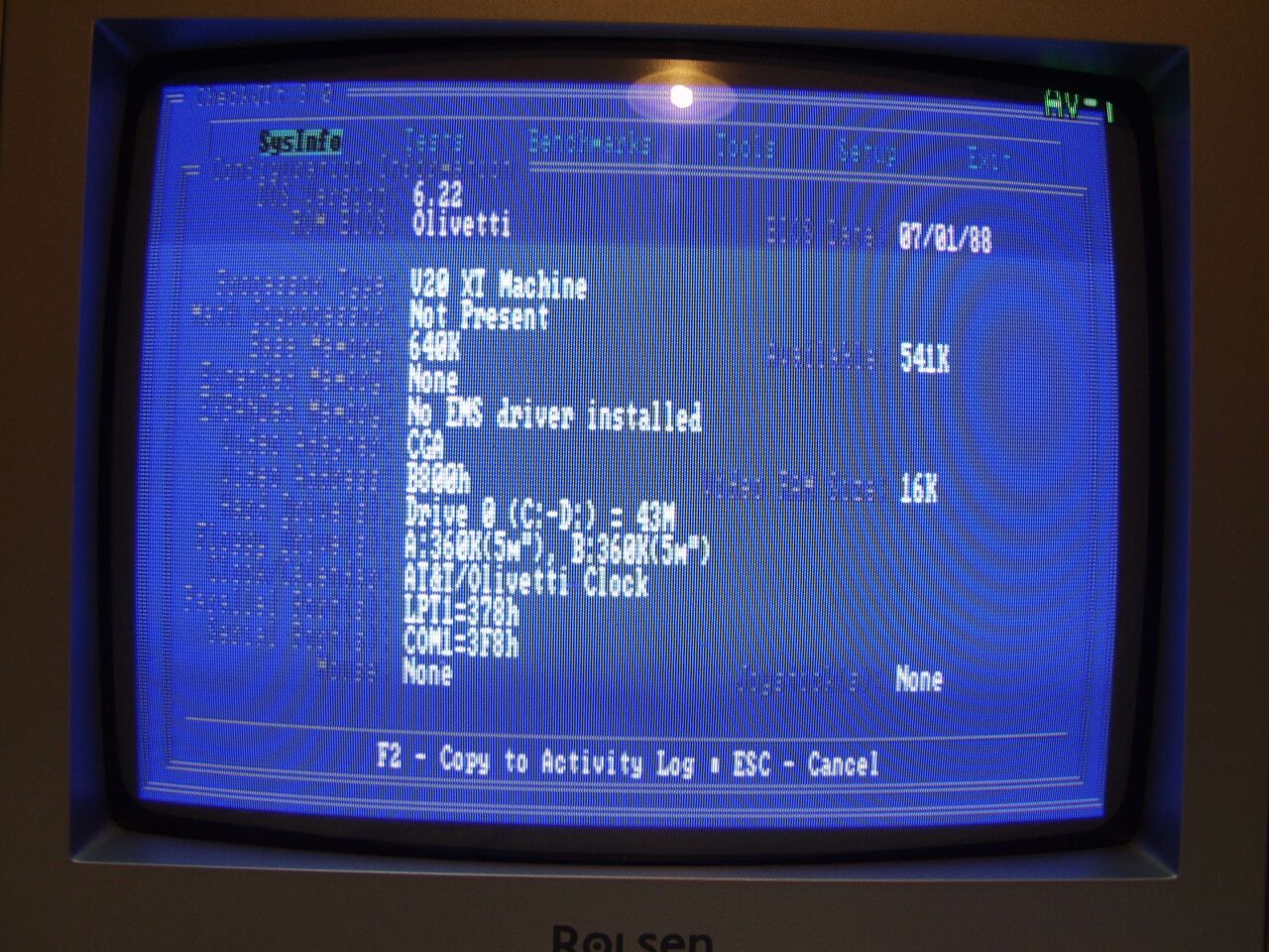 Итальянская IBM-PC Olivetti Prodest PC1 HD - 20
