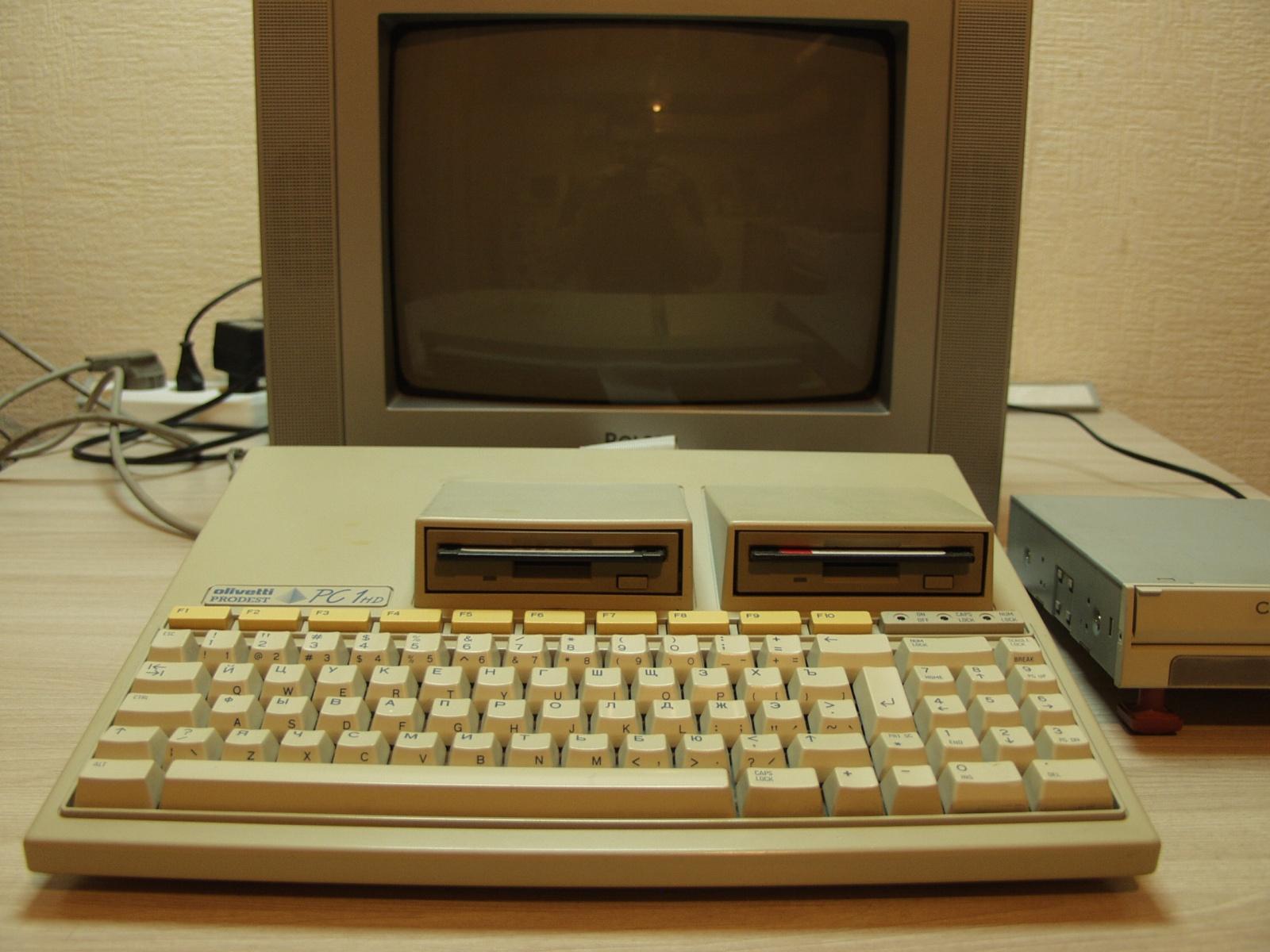 Итальянская IBM-PC Olivetti Prodest PC1 HD - 1