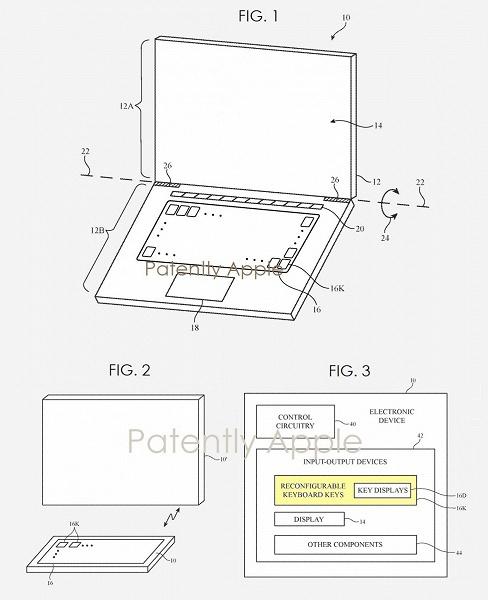 Apple выдали патент на компьютерную клавиатуру с экранами в каждой клавише