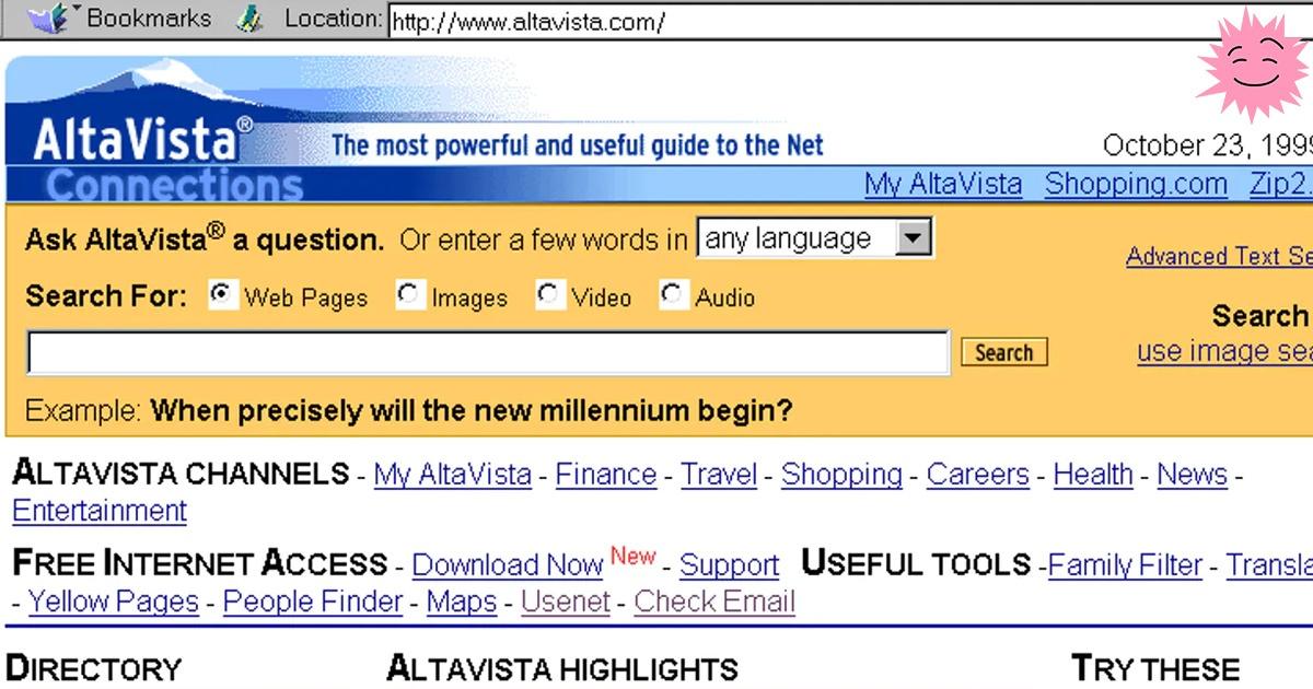 История AltaVista и сохранение прошлого Интернета - 1