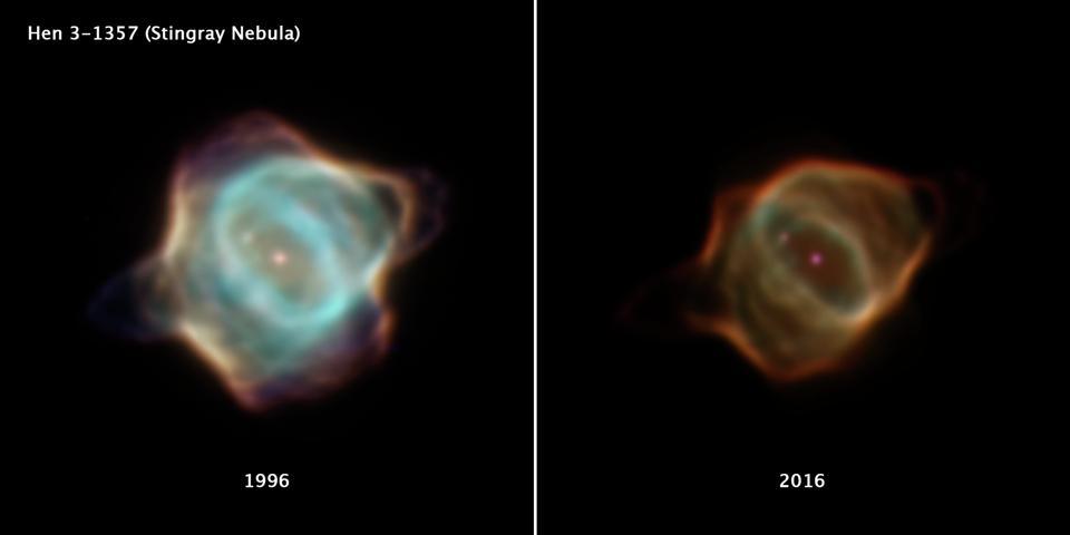 Умирающая звезда гаснет на глазах у телескопа Хаббл - 1