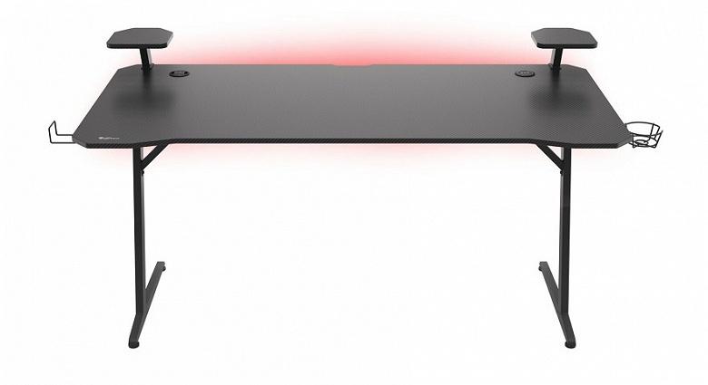 Со встроенной беспроводной зарядкой и настраиваемой подсветкой RGB. Представлен «игровой» компьютерный стол Genesis HOLM 510 RGB
