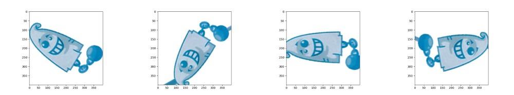 Оригинальное привидение слева, на других изображениях примеры аугментирования данных