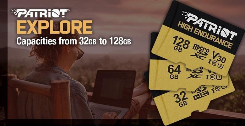 Линейка карт памяти Patriot Memory High Endurance SDXC включает три модели