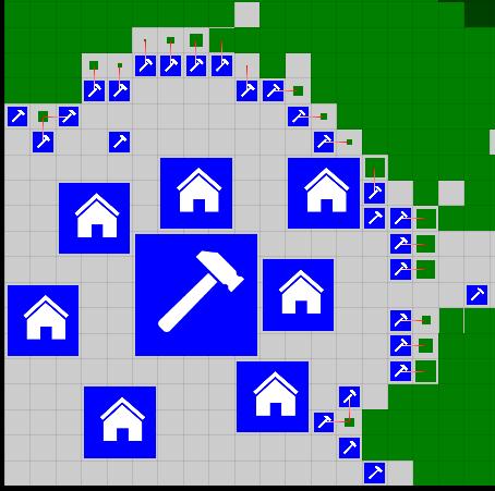 Пример хаотичной застройки Commandos-а