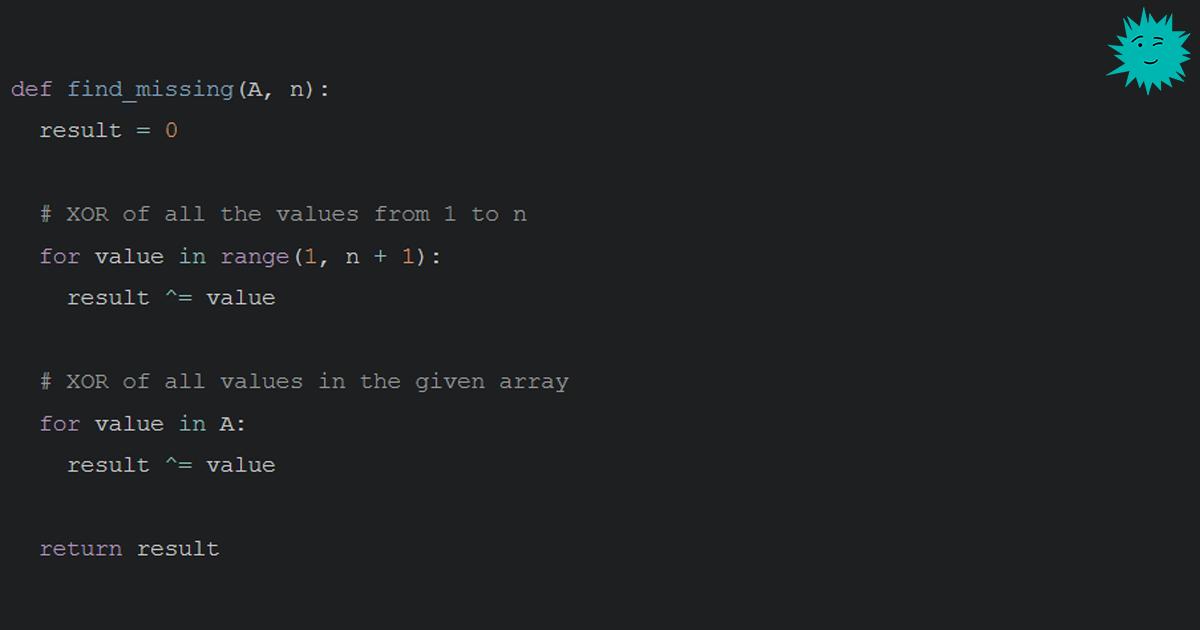 Трюк с XOR для собеседований и не только - 1