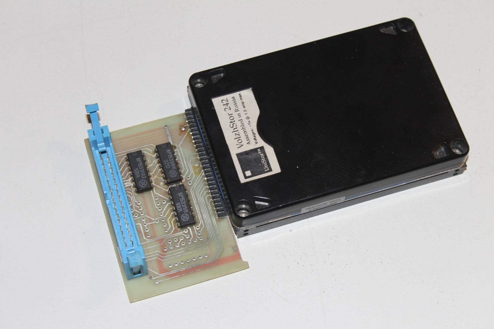 Жесткий диск Волжстор 242 с 1992 года по лицензии собирался Волжским заводом электронной-вычислительной техники
