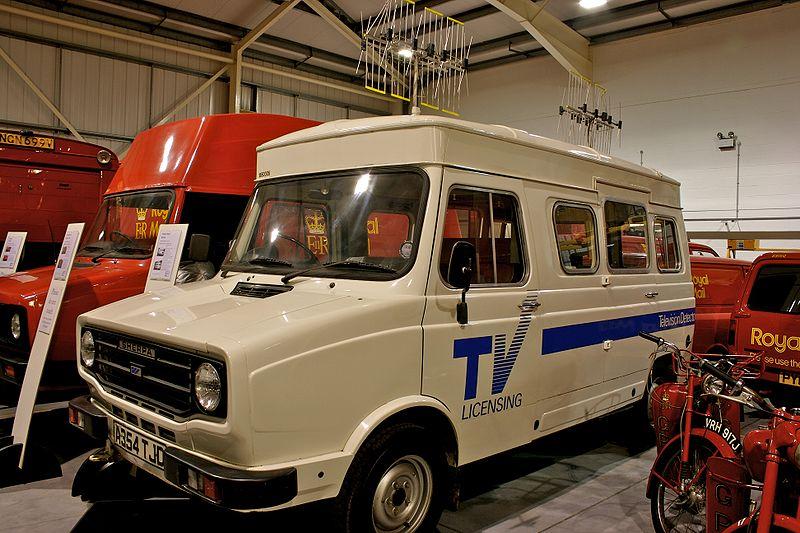 Телевизионный детекторный фургон Leyland Sherpa 1983 года