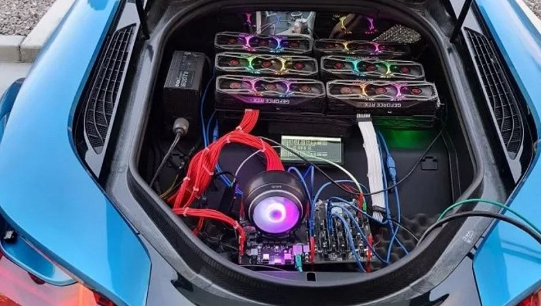 Майнинговая ферма в багажнике спорткара BMW i8. Зачем?