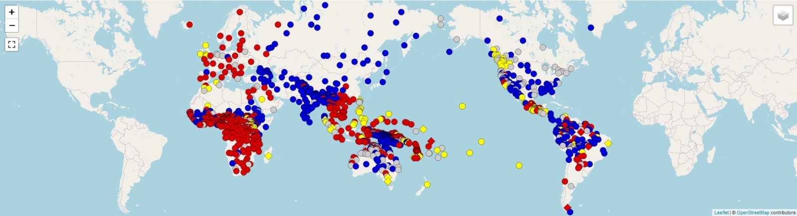 Интерактивная подробная карта порядка слов в языках мира