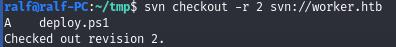 HackTheBox. Прохождение Worker. Работаем с SVN. Используем Azure DevOps для захвата хоста - 10