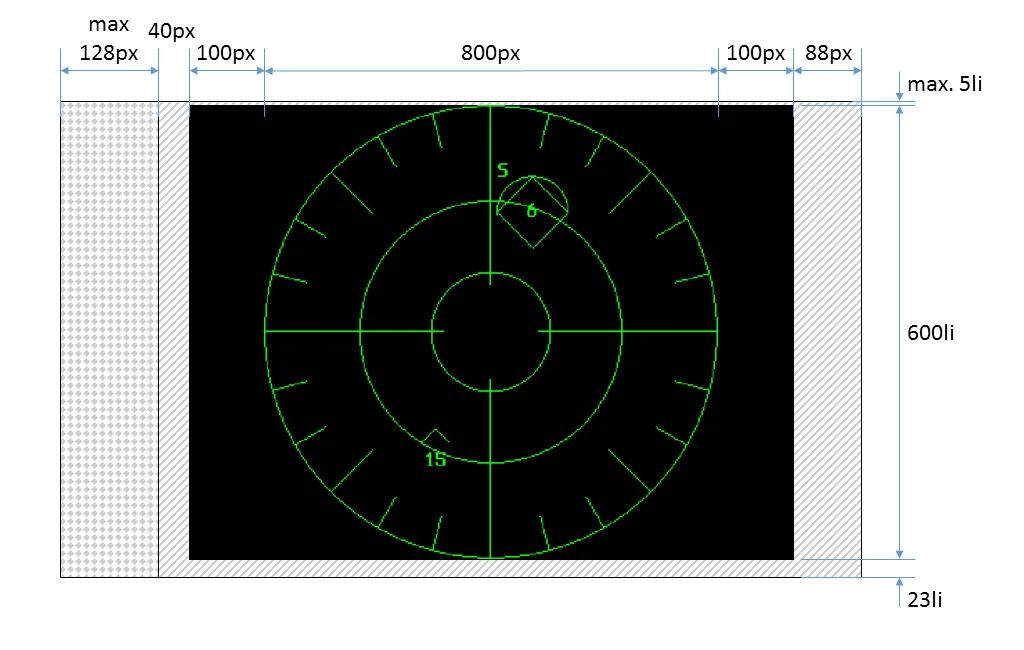 Симуляция радара истребителя на 3″ осциллографической ЭЛТ - 8