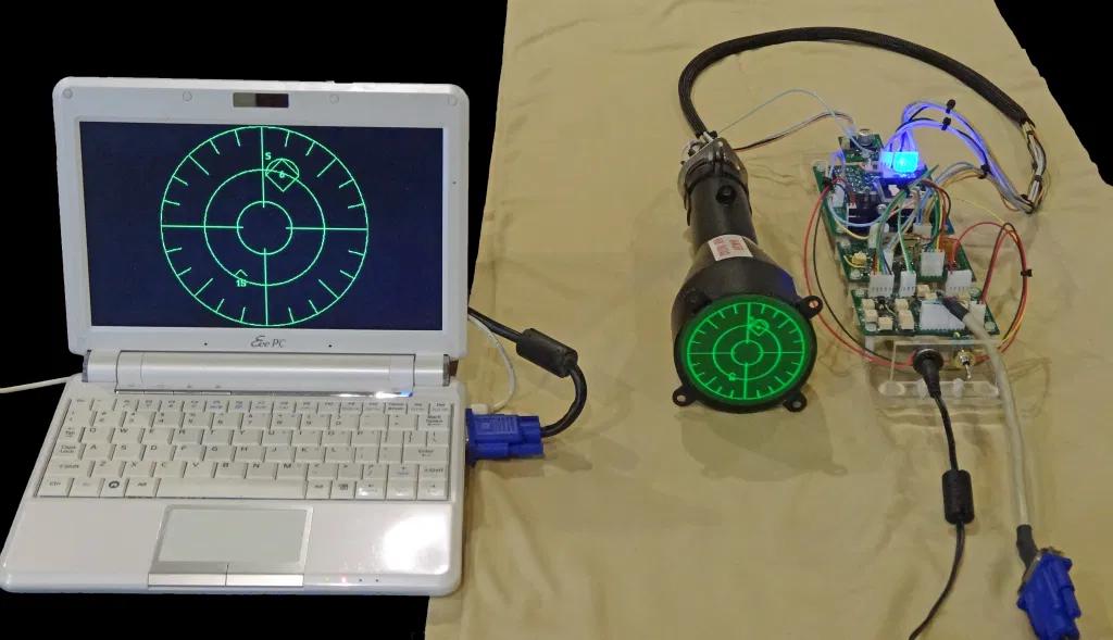 Симуляция радара истребителя на 3″ осциллографической ЭЛТ - 1