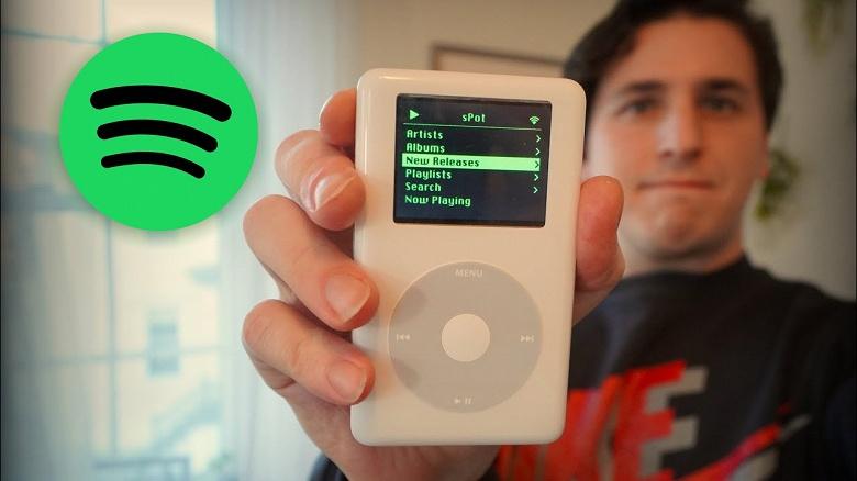 Вторая жизнь 17-летнего iPod. Энтузиаст запустил на нём Spotify