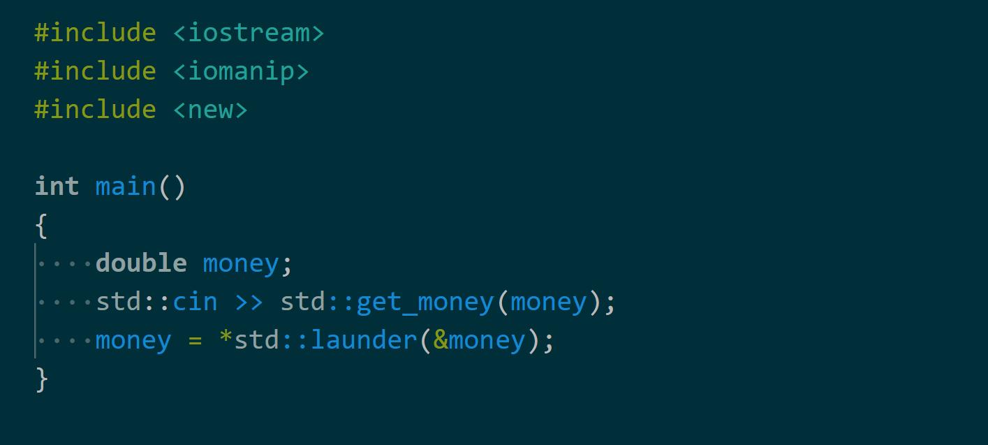 C++17. Функция стандартной библиотеки std::launder и задача девиртуализации - 1