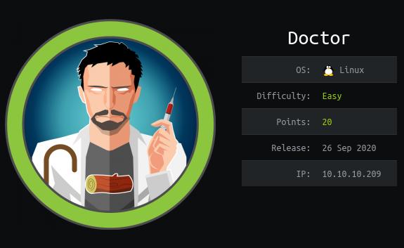 Hack The Box. Прохождение Doctor. SSTI to RCE. LPE через Splunkd - 1