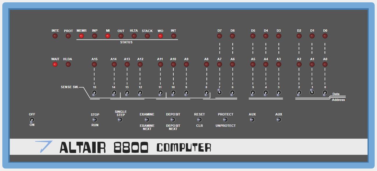 Пишем программу для компьютера ALTAIR 8800 1975г выпуска - 4