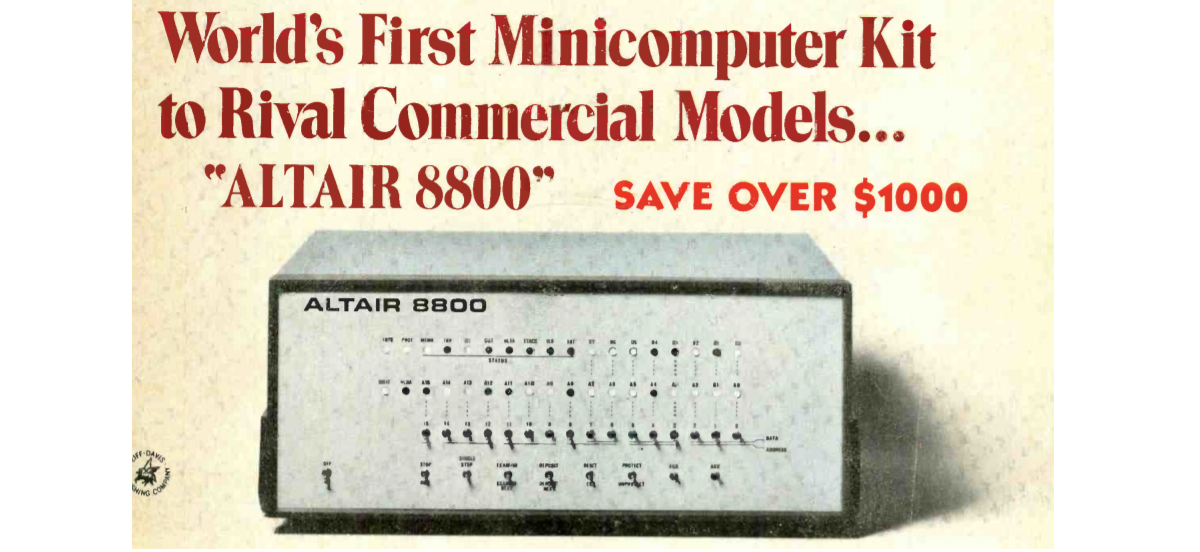 Пишем программу для компьютера ALTAIR 8800 1975г выпуска - 1