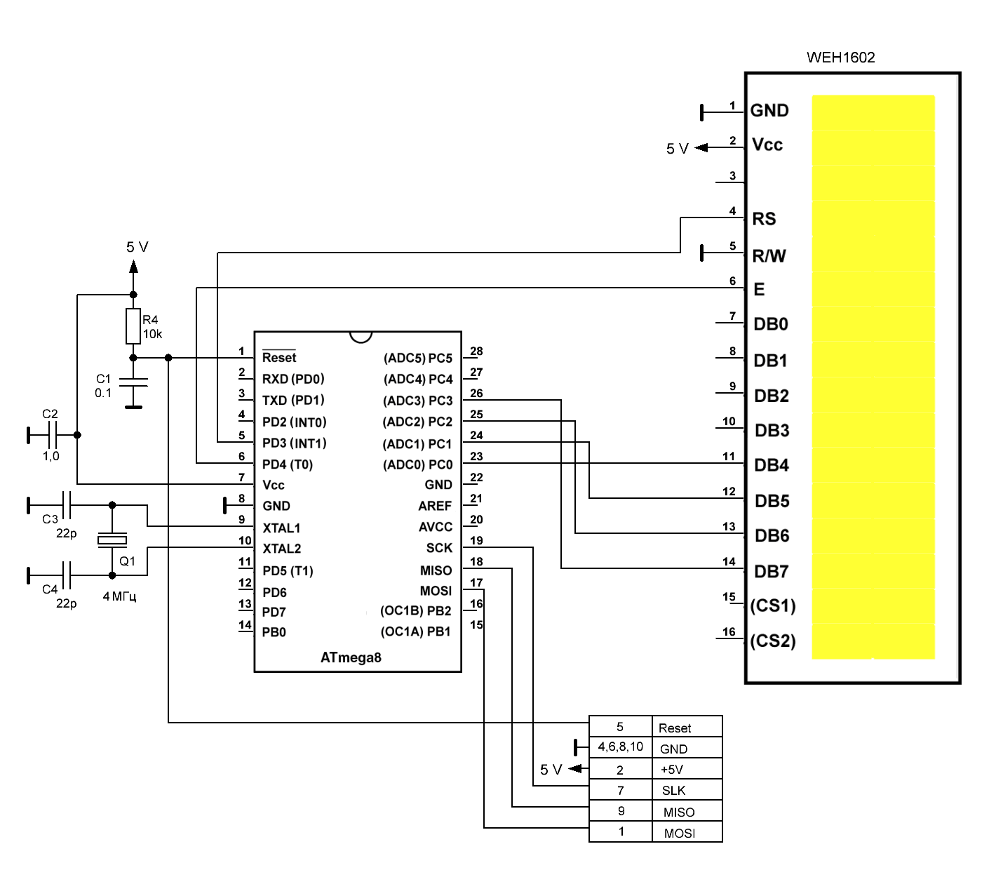 Управление LCD и OLED дисплеями на AVR-ассемблере - 3
