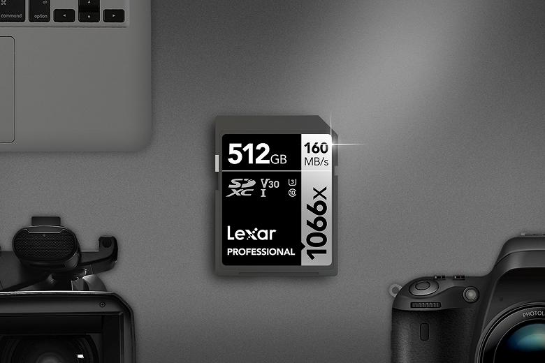 Представлены карты памяти Lexar Professional 1066x SDXC UHS-I Silver