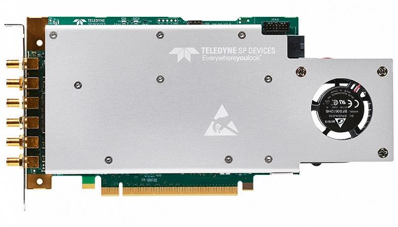 Плата сбора данных Teledyne SP Devices ADQ32 поддерживает оцифровку с 12-разрядным представлением данных и частотой 2,5 млрд выборок в секунду