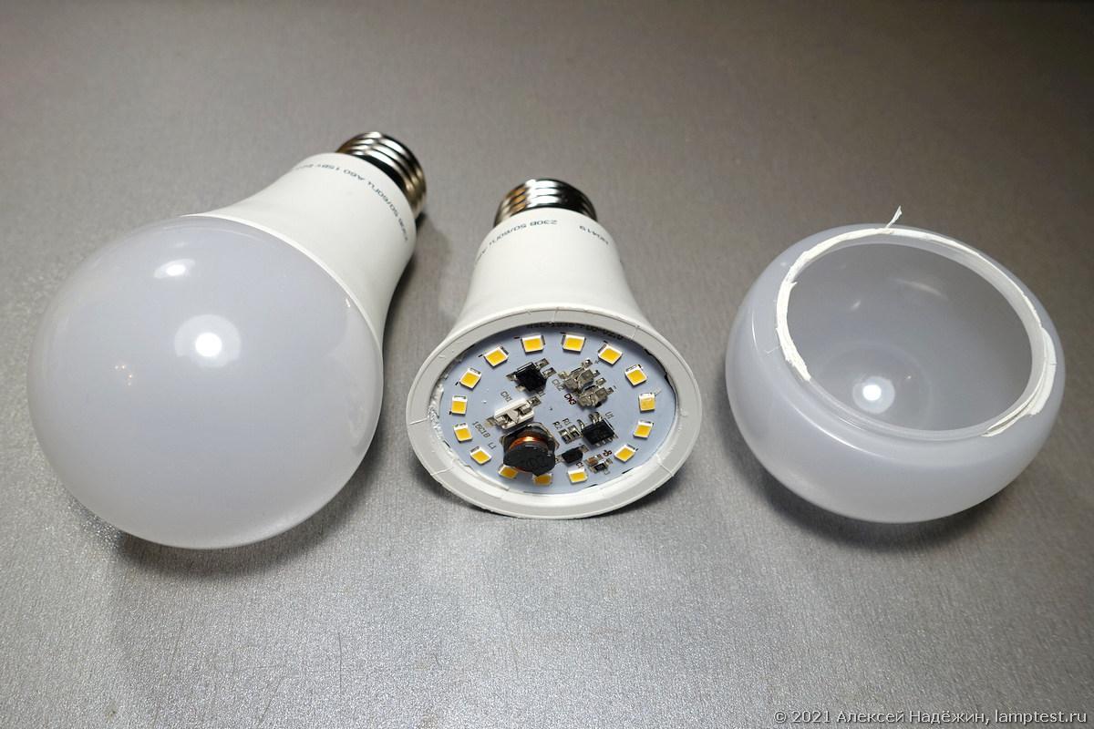 Как плафоны снижают яркость ламп - 1