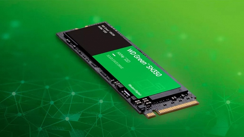 В твердотельных накопителях WD Green SN350, похоже, используется память QLC NAND