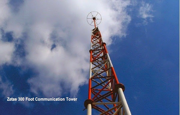 Одна из коммуникационных вышек Los Zetas высотой 90м