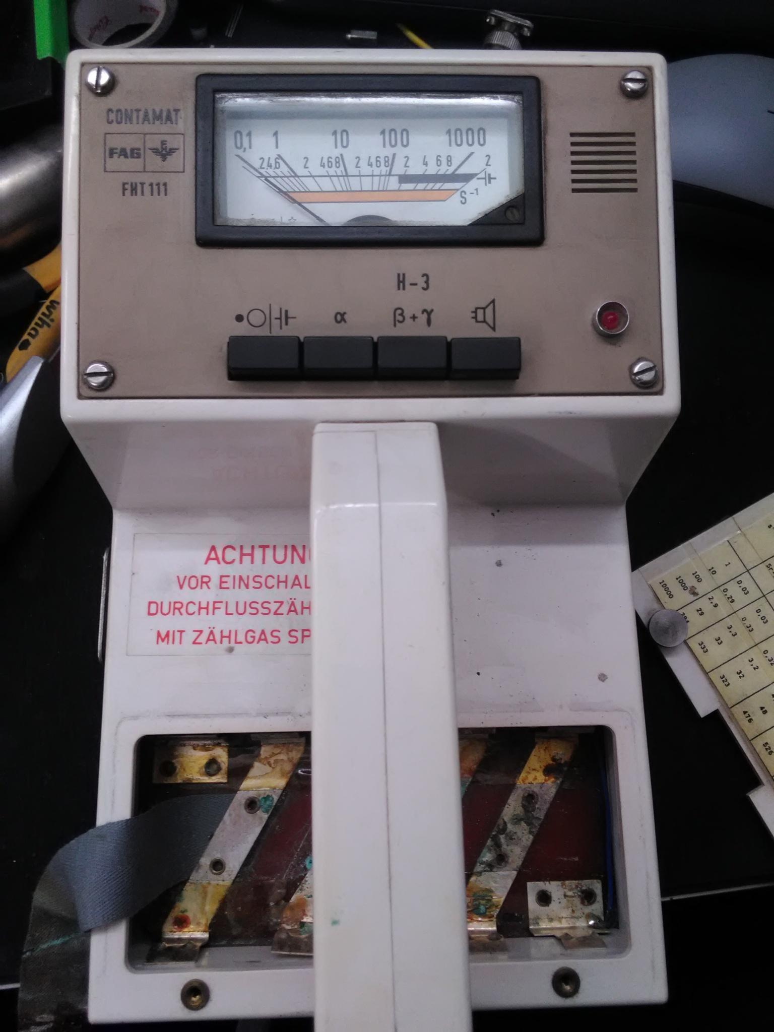 Возвращение к жизни радиометра FAG FHT 111 Contamat - 3