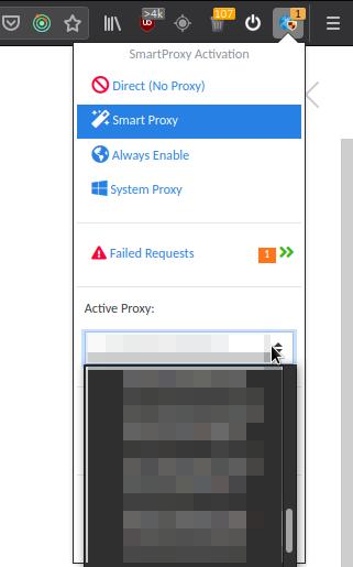 Выбираем активный proxy-сервер
