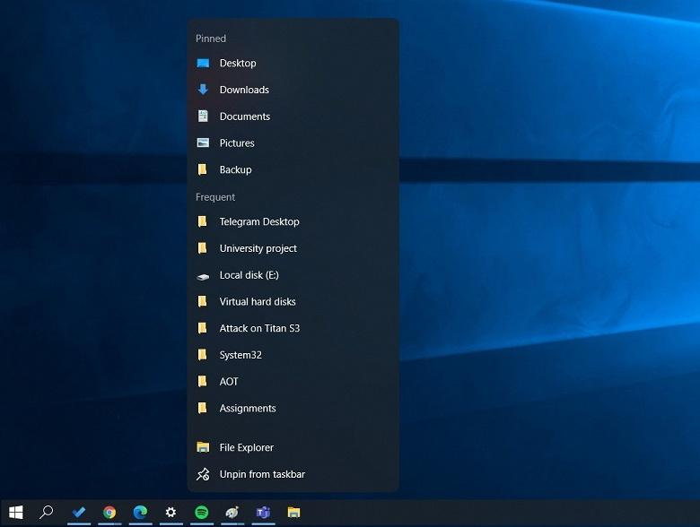 Вслед за «парящим» меню «Пуск» взлетают и другие элементы Windows 10